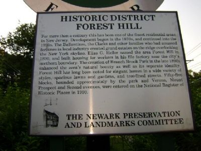 Forest Hill Historic District Marker image. Click for full size.