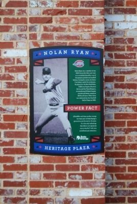 Nolan Ryan Marker Photo, Click for full size