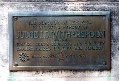 Judge I.D. Witherspoon Plaque image. Click for full size.