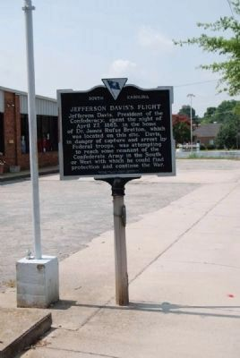 Jefferson Davis's Flight Marker Photo, Click for full size