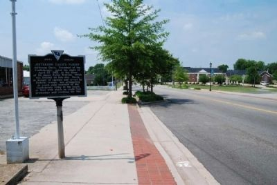 Jefferson Davis&#39;s Flight Marker<br>Looking South Along South Congress Street Photo, Click for full size