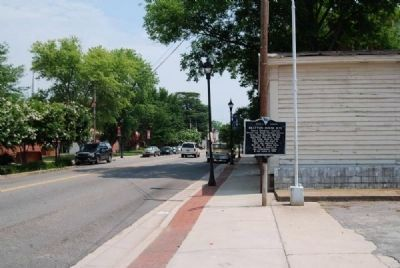 Bratton House Site Marker<br>Looking North Along South Congress Street Photo, Click for full size
