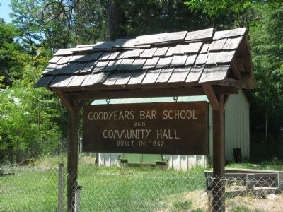 Goodyears Bar School and Community Hall image. Click for full size.