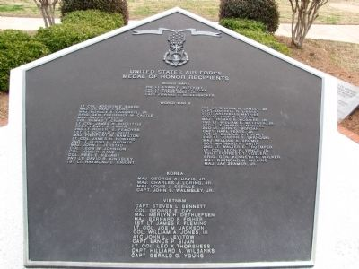 Tablet listing the Medal of Honor recipients image. Click for full size.