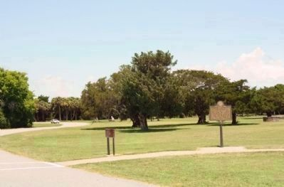 The Waving Girl Marker seen along Fort Pulaski Driveway to parking lot Photo, Click for full size