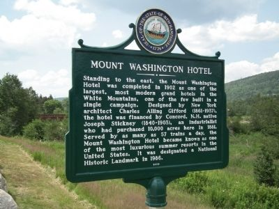 Mount Washington Hotel / Bretton Woods Monetary Conference Marker image. Click for full size.