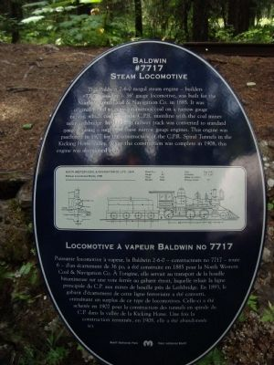 Baldwin #7717 Steam Locomotive Marker image. Click for full size.