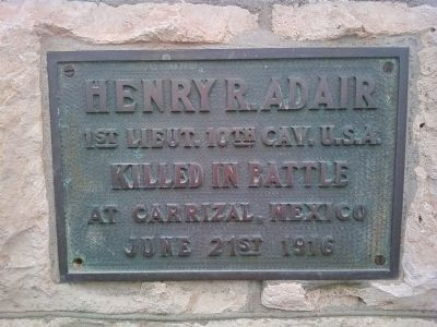 Henry R. Adair Marker image. Click for full size.