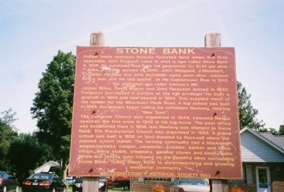 Stone Bank Marker Photo, Click for full size
