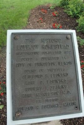 Owen Lovejoy Home Marker Photo, Click for full size