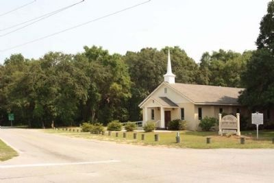 St. James Baptist Church and Marker looking southeast at Dillon Road image. Click for full size.