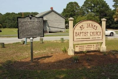 St. James Baptist Church Marker image. Click for full size.