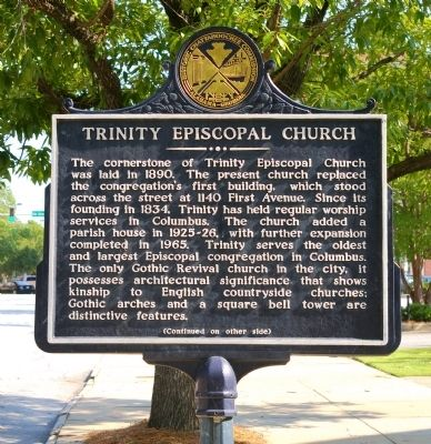 Trinity Episcopal Church Marker, Side 1 image. Click for full size.