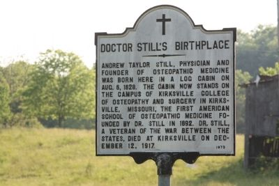 Doctor Still's Birthplace Marker image. Click for full size.