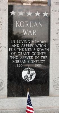 Center Panel - - Korean War Honor Roll - Grant County (Indiana) Marker image. Click for full size.