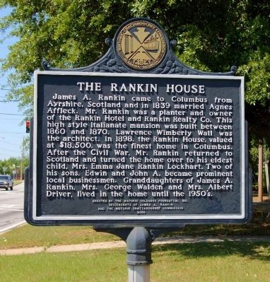 The Rankin House Marker, Side 1 image. Click for full size.