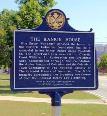 The Rankin House Marker, Side 2 image. Click for full size.