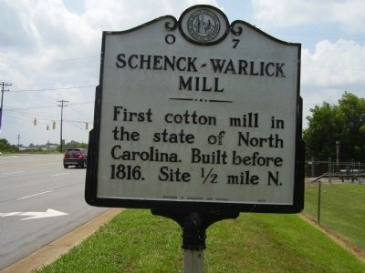 Schenkck - Warlick Mill Marker image. Click for full size.