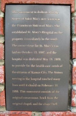 Sisters of Saint Mary Marker image. Click for full size.