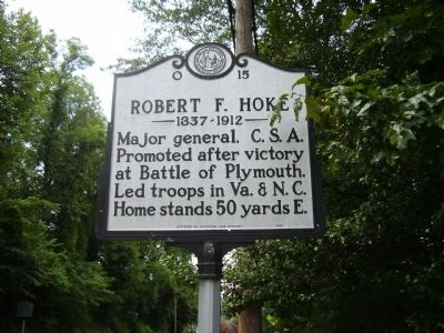 Robert F. Hoke Marker image. Click for full size.