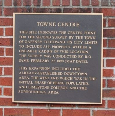 Towne Center Monument<br>Right Plaque image. Click for full size.