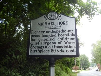 Michael Hoke Marker image. Click for full size.