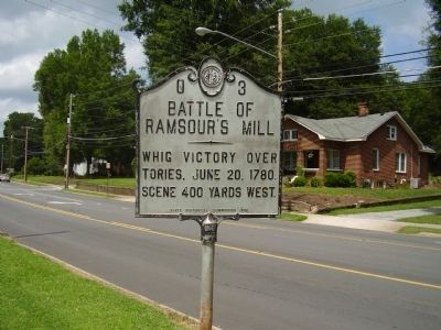 Battle of Ramsour's Mill Marker image. Click for full size.
