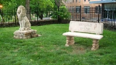 Janssen Place Historic District Centennial Bench image. Click for full size.