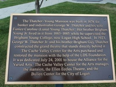 Thatcher-Young Mansion Marker image. Click for full size.