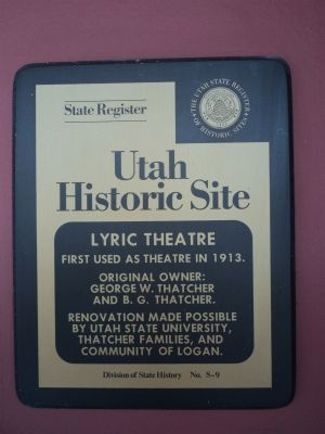 Caine Lyric Theater Marker image. Click for full size.
