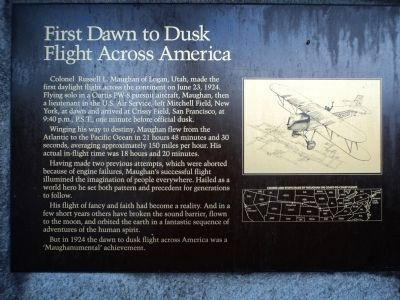 First Dawn To Dusk Flight Across America Marker image. Click for full size.