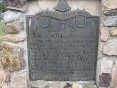 Hansen Cooperative Dairy Marker image. Click for full size.