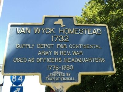 Van Wyck Homestead Marker image. Click for full size.