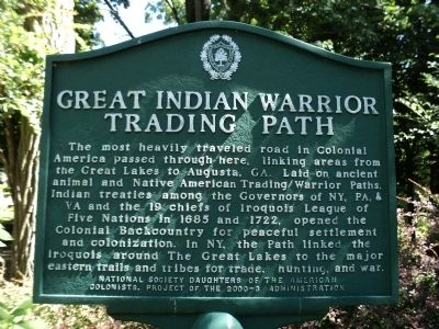 Great Indian Warrior Trading Path Marker image. Click for full size.