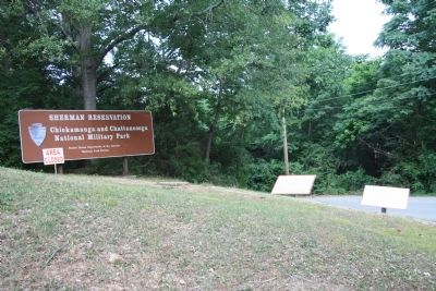Sherman Reservation Sign Photo, Click for full size