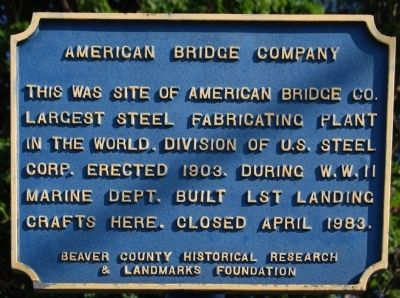 American Bridge Company Marker Photo, Click for full size