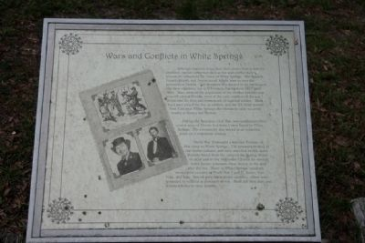 Wars and Conflicts in White Springs Marker image. Click for full size.