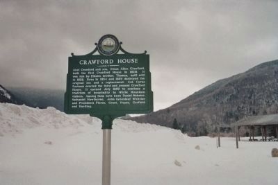 Crawford House Marker image. Click for full size.