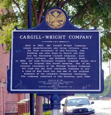 Cargill-Wright Company Marker (Side 2) image. Click for full size.