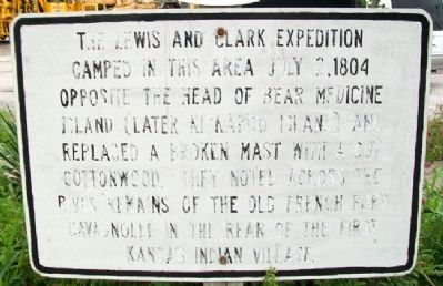 Lewis & Clark Campsite Marker image. Click for full size.