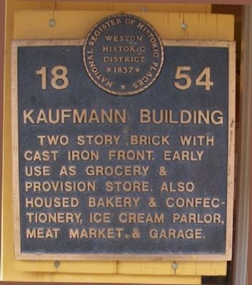 Kaufmann Building Marker image. Click for full size.
