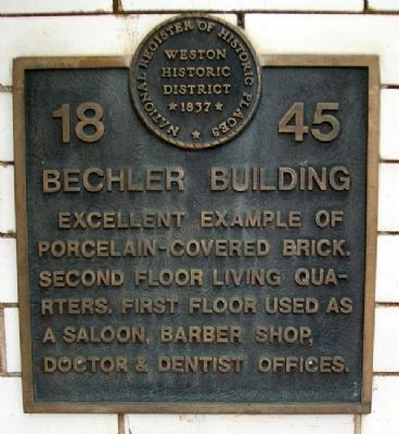 Bechler Building Marker image. Click for full size.