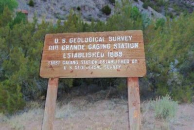 Rio Grande Gaging Station Marker image. Click for full size.