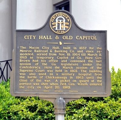 City Hall & Old Capitol Marker image. Click for full size.