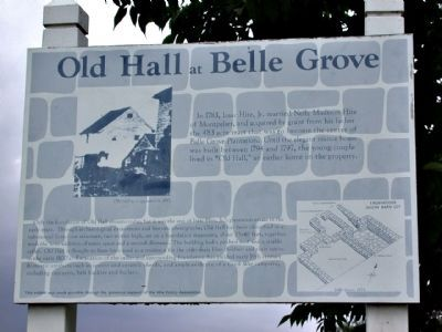 Old Hall at Belle Grove Marker image. Click for full size.
