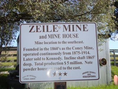Zeile Mine and Mine House Marker image. Click for full size.