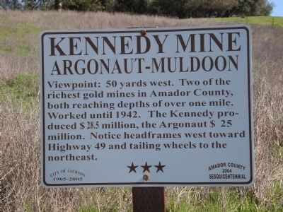 Kennedy Mine Marker image. Click for full size.