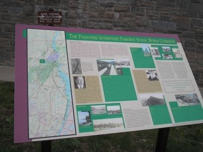 The Palisades Interstate Parkway Scenic Byway Corridor Marker image. Click for full size.