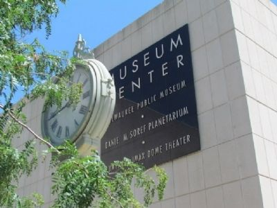 Tower Clock and Museum Center Sign image. Click for full size.