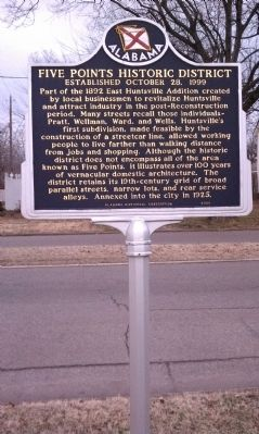 Five Points Historic District Marker image. Click for full size.
